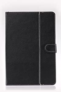 iRulu Folio Artificial Leather Case Cover for 10 Inch Android Tablet PC, Black