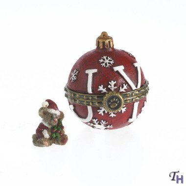 Boyds Holiday Treasure Box – Joy's Christmas Ornament with Spruce McNibble