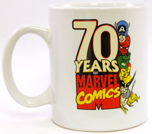 Mugs Marvel Extreme Retro 70 Years Mug, 12-Ounce, White