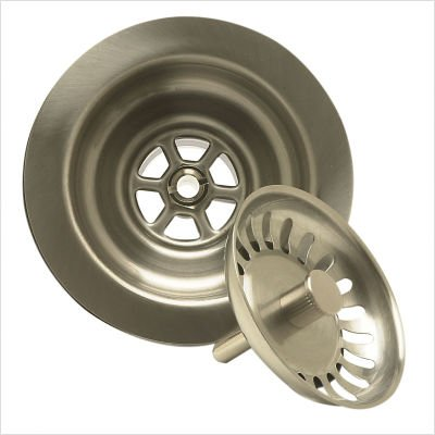 Mountain Plumbing MT300/BRN Kitchen Sink Basket Strainer, Brushed Nickel