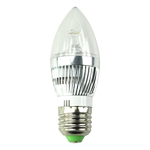 3W Led Candelabra E27 High Power Led Candle Light Bulb,Warm White.