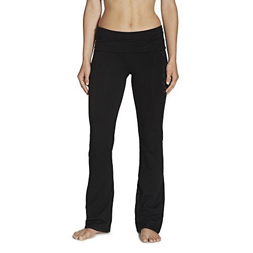 Gaiam Women's Nova Bootcut Pant, Black, X-Large