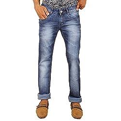 Hasasi Denim Men's Regular Fit Jeans - IB3438-Jeans-Blue-30