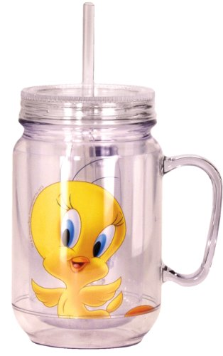 Looney Tunes Tweety Mason Jar, Yellow