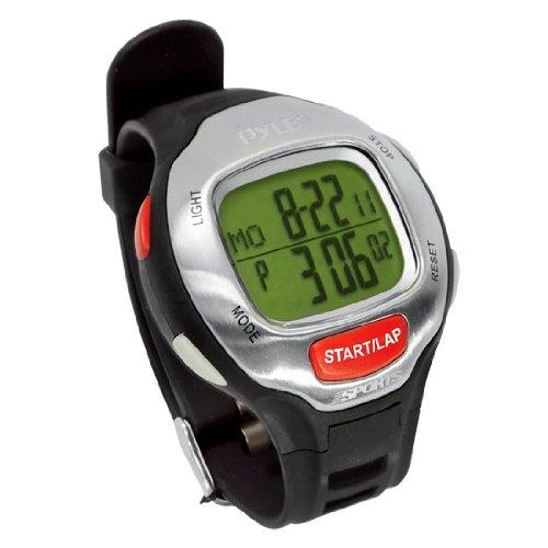 Pyle Sports PSWMR40BK Mens Marathon Runner Watch with Target Time Setting, Time Alert, 150 Lap Chronograph Memory (Black)