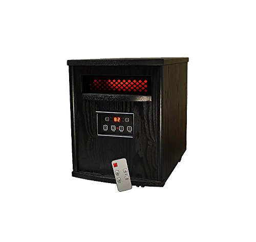 SUNHEAT Thermal Wave TW1500 Electric Portable 1500 Watt Infrared Heater with Remote Control – Black
