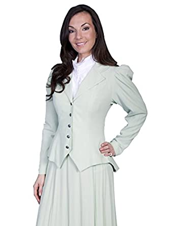 Puff Sleeve Coat Pistachio  AT vintagedancer.com