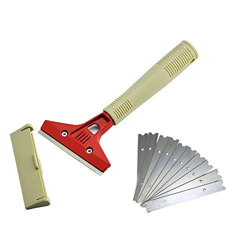 Ehdis-4-Wide-Heavy-Duty-in-acciaio-inox-Raschiatore-lungo-manico-Clean-Pala-con-un-1-Jack-alla-fine-per-linstallazione-manico-lungo-Aggiunto-10-Lama-di-ricambio