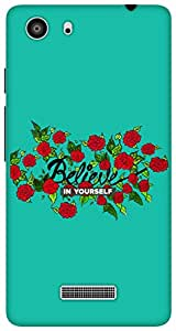 The Racoon Lean Believe hard plastic printed back case for Micromax Unite 3