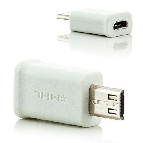 Saxonia. MHL Micro USB 2.0 Adapter 5 Pin zu 11 Pin HDTV Full HD Konverter kompatibel mit Samsung Galaxy S3 i9300 / S4 i9500 i9505/ S5 G900 F H / Mega 6.3 i9200 i9205 5.8 i9150 i9152 / Tab 3 8.0 SM T3100 T3110 T315 / Note 2 N7100 N7105 / 3 N9000 N9005 / 8 GT N5100 N5110 N5120 LTE / Note 10.1 2014 P600 P605 Wifi / NotePRO 12.2 P900 P905 / Sony Xperia UL V SP T Z Z1 Z2 Z3 Compact Ultra Tablet / HTC One M7 M8 M9 Flyer Evo X X+ XL S Max / ZTE / Alcatel Farbe weiß