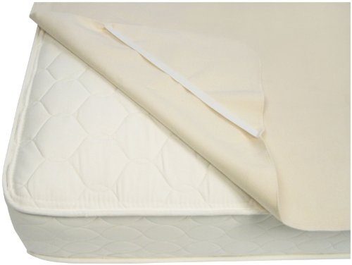 Naturepedic Organic Waterproof Protector Pad with Straps, Twin