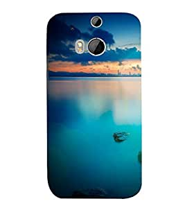 printtech Nature View Seaside Back Case Cover for HTC One M8 / HTC M8