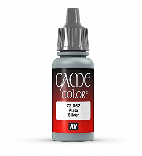 Vallejo Game Color Silver Paint, 17ml