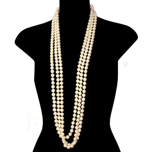 10Mm Hand Knotted Glass Pearls In Pearl