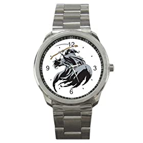 Sport Metal Watch of Scary Grim Reaper