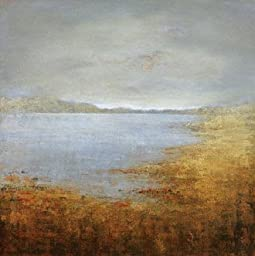 24W x 24H Quiet Lake VII by Suzanne Etienne - Stretched Canvas w/ BRUSHSTROKES