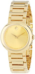 Movado Women's 0606704 Concerto Gold Plated Case and Bracelet Gold Dial Watch