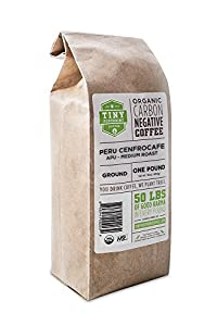 Tiny Footprint Organic Peru APU Medium Roast Coffee, Ground, 1 Pound by Tiny Footprint Coffee