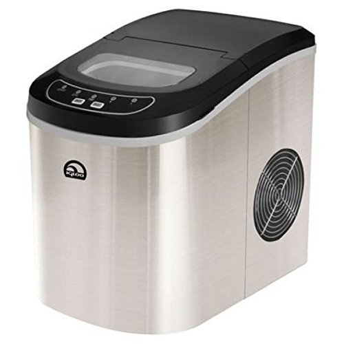 Igloo ICE102ST Counter Top Ice Maker, Stainless Steel (Certified Refurbished) (Refurbished Ice Maker compare prices)