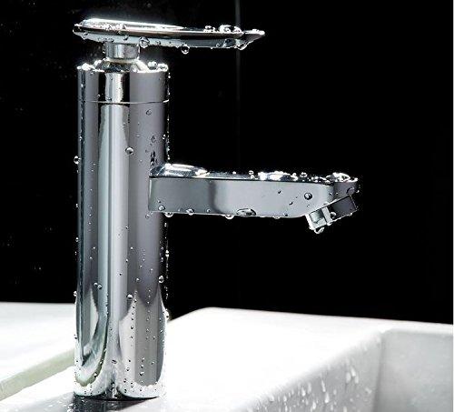 New new faucet bathroom basin mixer tap ceramic cartridge chrome single hole bathroom washbasin modern faucet BR-9118