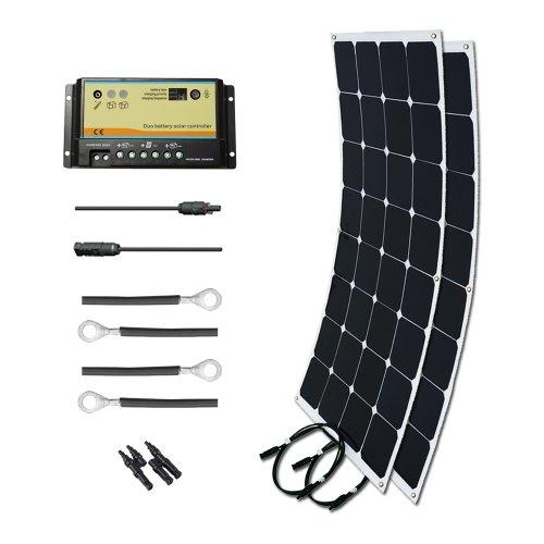 RENOGY Boat Solar Kit 200W: Two 100W Mono Bendable Solar