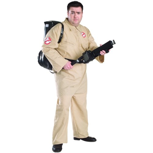 Ghostbusters Deluxe Plus Size Jumpsuit, Beige, Plus Costume
