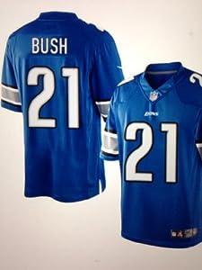Reggie Bush Detroit Lions NFL Blue Game Day Replica Jersey by NFL