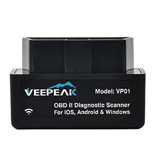 Amazon.com: Veepeak Mini WiFi OBD2 OBD 2 OBDII OBD II Scanner Scan