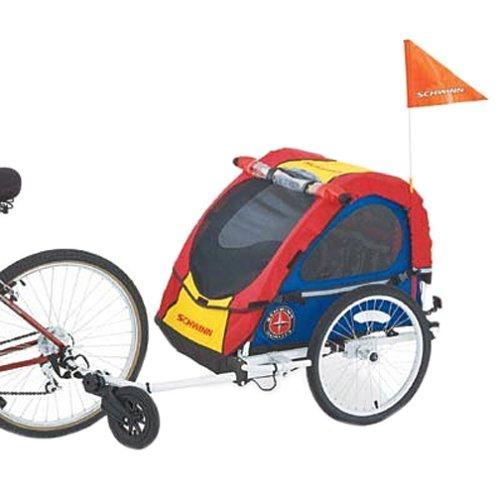 Schwinn Mark III Double Bike Trailer and Jogging Stroller ...