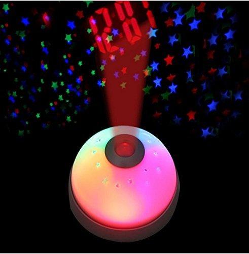 Unique Sports Accessories Magic Led Color-Change Projector Alarm Clock