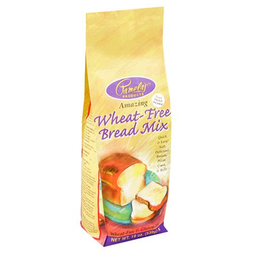 Pamela's Products Wheat-Free & Gluten-Free Bread Mix, 19-Ounce Packages (Pack of 6)