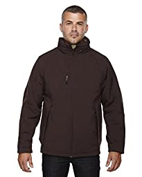 Big Mens Insulated Soft Shell Jacket With Detachable Hood