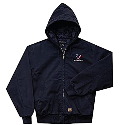 NFL Houston Texans Cumberland Canvas Quilt Lined Hooded Jacket, Navy, Large