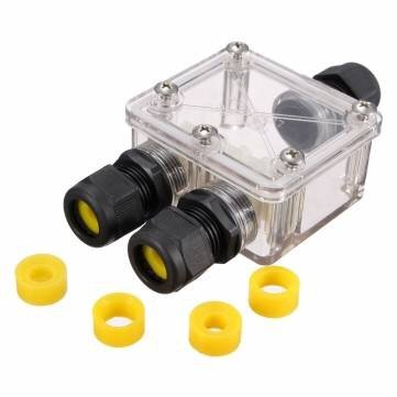 JB004 Outdoor IP68 Junction Connector Box Case Waterproof 3 Way Cable Caravan