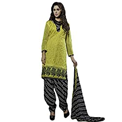 Typify Women's Chanderi Unstitched Dress Material (TYPIFY226_Multicolor_Free Size)