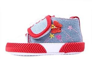 V-SOL Zapatos / Zapatillas Para Bebé De Primeros Pasos - Lentejuelas / Lona (12cm, Rojo) por V-SOL en BebeHogar.com