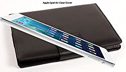 SVVM Case cover for Apple Ipad Air Synthetic Lather Case cover Magnetic Closer Model : SVVM002IPACB (Black)
