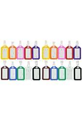 KLOUD City ® 20 Pcs Assorted Colors Plastic Square-shape Tag