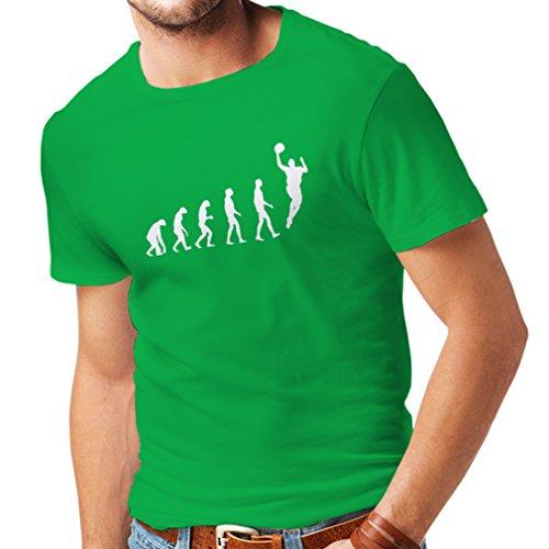T-shirt da uomo Evolution Basketball (X-Large Verde Bianco)