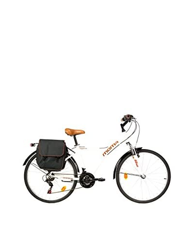 MOMA BIKES Bicicleta Trekking 26 Bike Alu 18V Hybrid Blanco