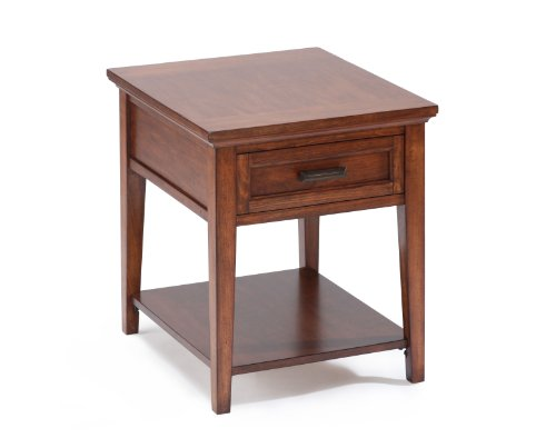 Image of Magnussen Harbor Bay Wood Square End Table (T1392-03)