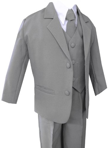 Formal Suit Set Silver For Boys From Baby To Teen (S (3-6 Months))