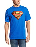 DC Comics Superman Classic Logo Men's Royal Blue T-shirt