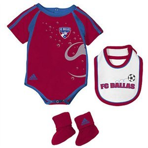 Adidas Fc Dallas Mls Infant Creeper, Bib & Booties (6/9 Months) back-984989