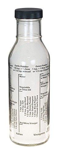 Kolder Fresh Salad Dressing Maker Mix & Store Glass Bottle Mixer Homemade Ranch (Kolder Salad Dressing Bottle compare prices)