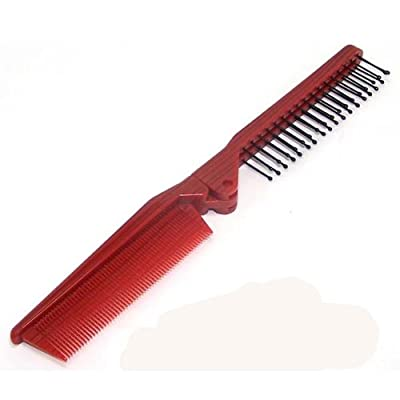 Best Cheap Deal for Fenheus Girls Ladies Mens Fine Travel Folding Pocket Salon Hair Brush Comb Red Portable by Fenhe CO.,LTD - Free 2 Day Shipping Available