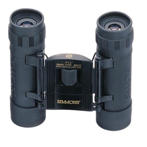 Simmons 10X25 Compact Binoculars (Black Rubber)