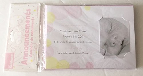 Baby Announcement Cards (Baby Girl (10 pack))
