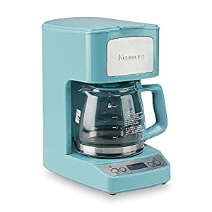 Amazon.com: Light Blue Coffee Maker 5-Cup Freshly Brewed Java Fun Turquoise Color Coffeepot ...