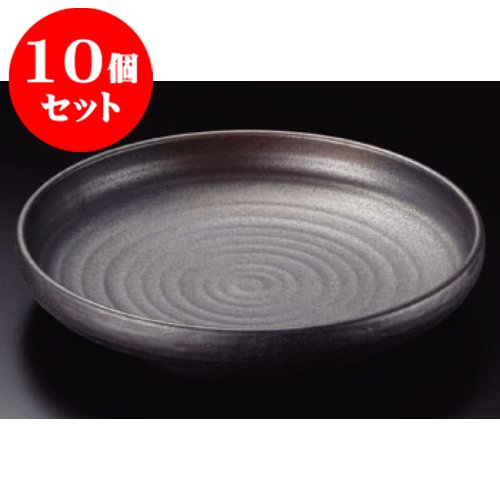 10 piece set large pot bizen style 10.0 off vertical Sheng Bowl [31 x 6 cm] Hotel food and beverage shop Japanese commercial